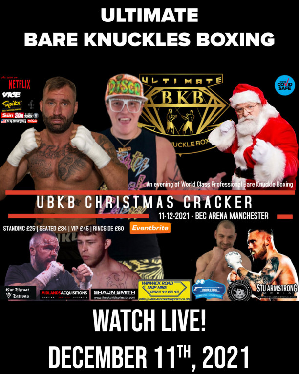 Ultimate Bare Knuckles Boxing Christmas Cracker Live on Combat Sports Now